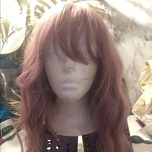 New rose gold synthetic wig with bangs